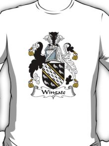 Coat of arms (family crest) for last-name or surname Wingate . Heraldry banner for your name. T-Shirt