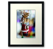 Reindeer Santa Framed Print