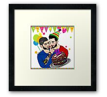 Liam's Birthday Cake Framed Print