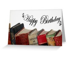 Happy Birthday (older) card - Old fashioned Books Greeting Card