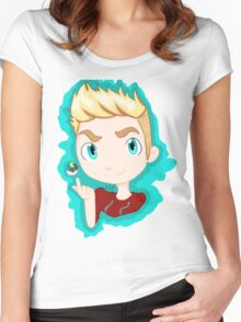 Trainer Lachlan Chibi Women's Fitted Scoop T-Shirt