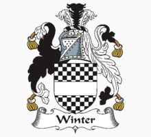Coat of arms (family crest) for last-name or surname Winter I . Heraldry banner for your name. Kids Clothes