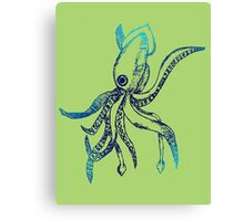 Ombre Squid Canvas Print