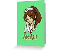 League of Legends Akali HQ Greeting Card