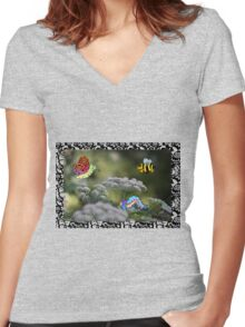 Airborne squadron Women's Fitted V-Neck T-Shirt