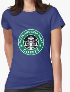 Moon-and-star bucks Womens Fitted T-Shirt