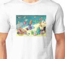 Monster Summer Time on the Beach Unisex T-Shirt