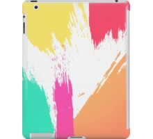 Multi-Colored Paint Brushstrokes  iPad Case/Skin