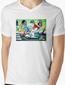 Scooter rally - Yeti and Co. Mens V-Neck T-Shirt