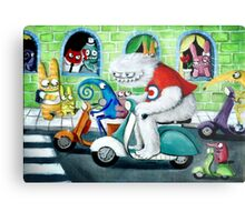 Scooter rally - Yeti and Co. Metal Print