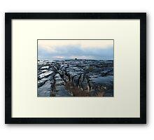 Dusk on The Burren Framed Print