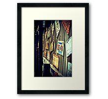 vintage tags Framed Print