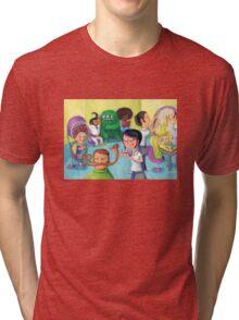 Hair Beauty Saloon Tri-blend T-Shirt