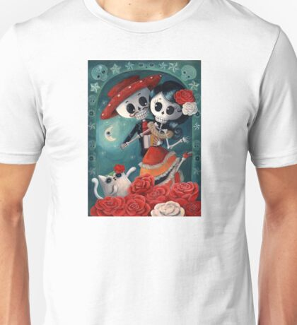 Dia de Los Muertos Couple of Skeleton Lovers Unisex T-Shirt