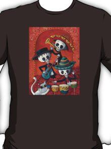 Dia de Los Muertos Skeleton Musicans T-Shirt
