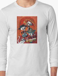 Dia de Los Muertos Skeleton Musicans Long Sleeve T-Shirt