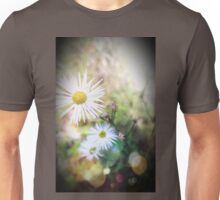 White Wildflowers Whispering in the Wind Unisex T-Shirt