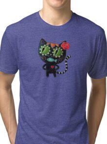 Black Cat of The Dead Tri-blend T-Shirt