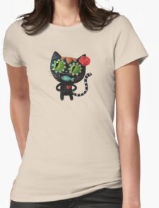 Black Cat of The Dead Womens Fitted T-Shirt