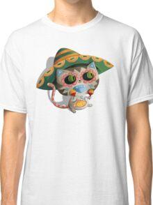 Mexican Dia de Los Muertos Cat Classic T-Shirt