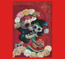 Mexican Skeletons Mother and Daughter Baby Tee