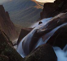Dawn Falls at the Gorge MT Buffalo by Donovan wilson