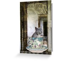 Cat in the Cup Greeting Card