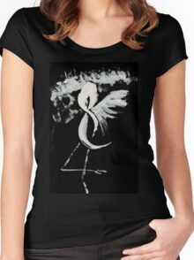 0025 - Brush and Ink - Near Forest Line Women's Fitted Scoop T-Shirt