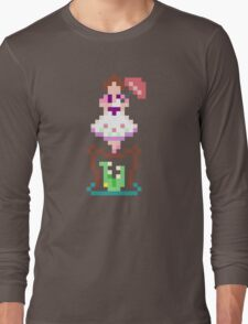 8-bit Haunted Mansion Tightrope Girl Long Sleeve T-Shirt