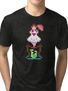 8-bit Haunted Mansion Tightrope Girl Tri-blend T-Shirt