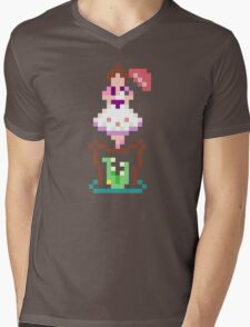 8-bit Haunted Mansion Tightrope Girl Mens V-Neck T-Shirt