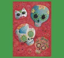 Colourful Sugar Skulls Kids Tee
