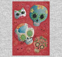 Colourful Sugar Skulls Kids Tee