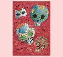 Colourful Sugar Skulls One Piece - Long Sleeve