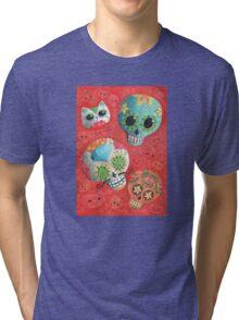 Colourful Sugar Skulls Tri-blend T-Shirt
