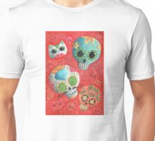 Colourful Sugar Skulls Unisex T-Shirt