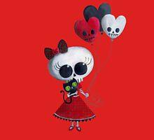 Halloween Little Miss Death with Balloons Unisex T-Shirt