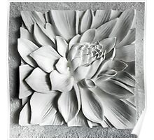 White Floral Sculpture Poster