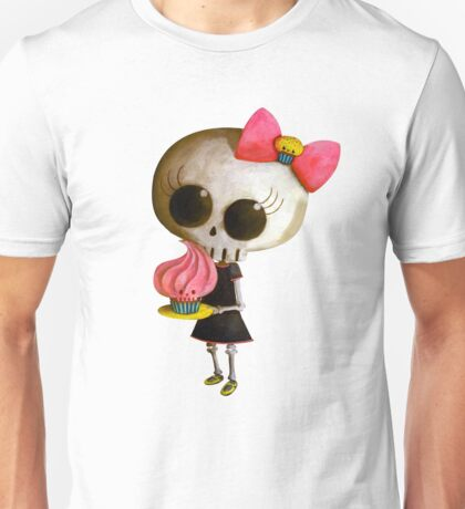 Little Miss Death with Cupcake Unisex T-Shirt