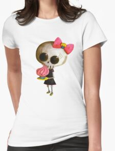 Little Miss Death with Cupcake Womens Fitted T-Shirt