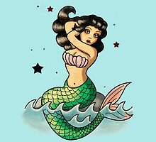 Old School Mermaid by colonelle