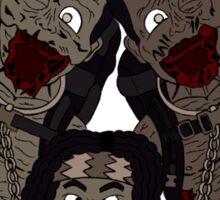 Michonne & her Pets Sticker
