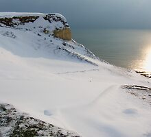 Snow topped cliff at Seaford Head by DJ-Stotty