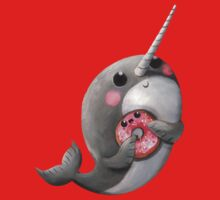 Cute Narwhal with donut One Piece - Short Sleeve