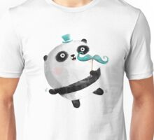 Cute Panda with Mustaches Unisex T-Shirt