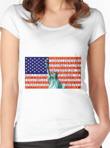 Stunning! Statue of Liberty New York City Women's Fitted Scoop T-Shirt