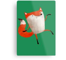 Happy Dancing Fox Metal Print