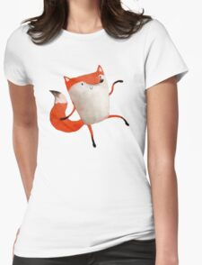Happy Dancing Fox Womens Fitted T-Shirt