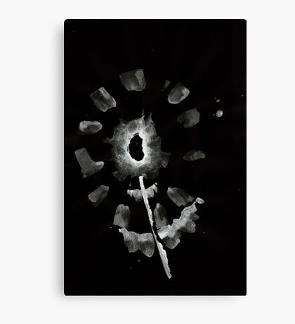 0032 - Brush and Ink - Second Flower Canvas Print