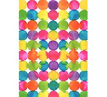 Bright watercolour dots Photographic Print